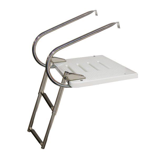 EKT Top-Mount Swim Platform Ladder I/O with Handles – 2 Step