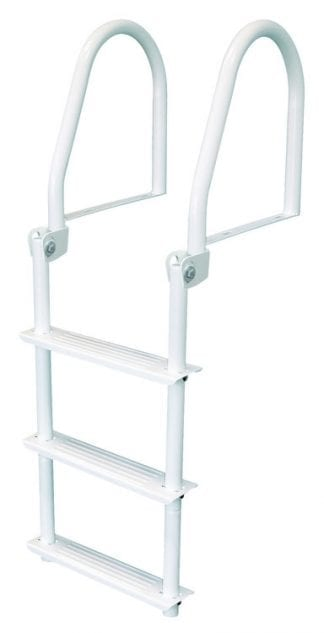 ASH – 4 Step Aluminum Dock Ladder - Boat Ladder Central